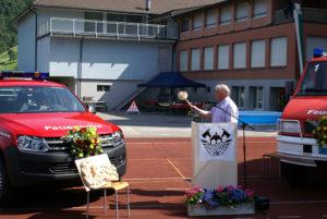 Feierliche Übergabe der neuen Fahrzeuge an die Feuerwehr Sisikon (2015)